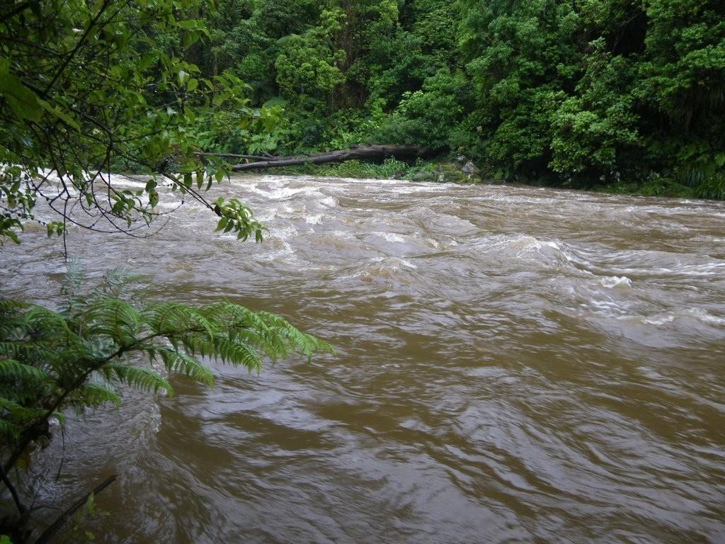 River in flood after heavy rain